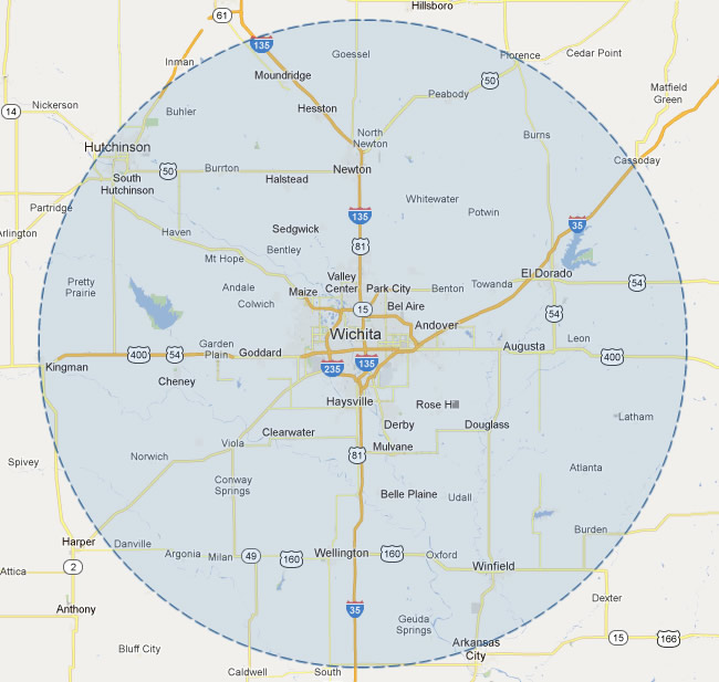View S A Construction S General Coverage Area In Kansas