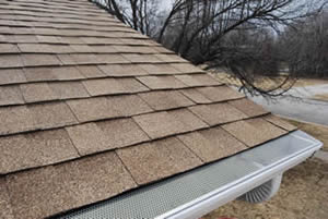 E-Z Drop In gutter screen installation