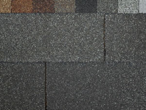 3-tab shingles in various colors