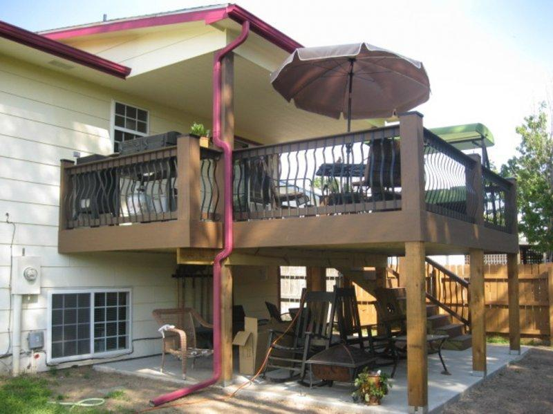 Example Of Two Story Deck (Composite U0026 Partially Covered)